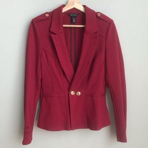 WHBM ruby red blazer